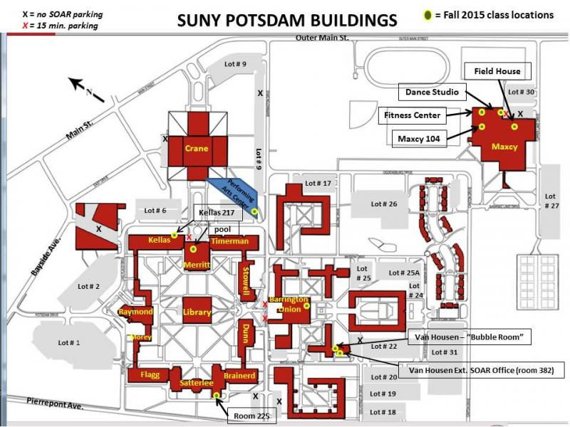 Suny Potsdam Map SOAR Location Detail: SUNY: Maxcy Field House | Soar North Country Suny Potsdam Map